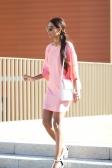 Pink dress street style 7