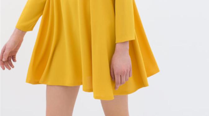 Fashion Tip – Vestido amarelo da Zara, como usar?