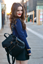 Dana Melanie - Street Style - Donavon Bentley Backpack