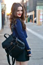 Dana Melanie - Street Style - Donavon Bentley Backpack
