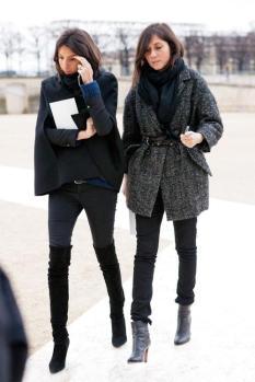la-modella-mafia-Emmanuelle-Alt-and-Geraldine-Saglio-of-Vogue-Paris-Fashion-Editor-street-style-1