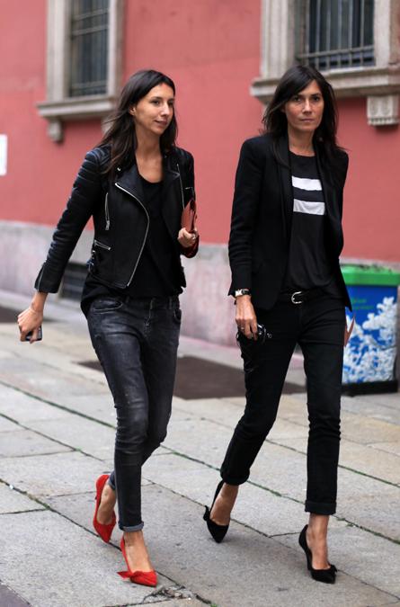 la modella mafia emmanuelle alt and geraldine saglio of vogue paris fashion editor street style