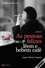as pessoas felizes leem e bebem cafe