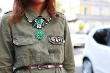 zara military shirt-brilliant stones-street style