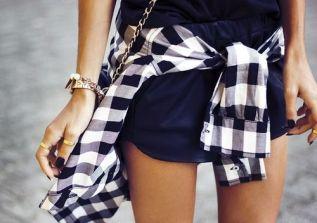 tartan shirt street style