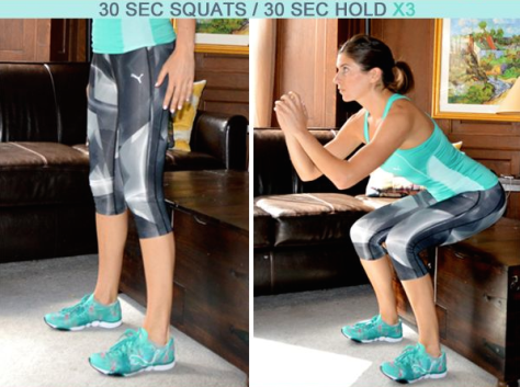 butt exercise home squat