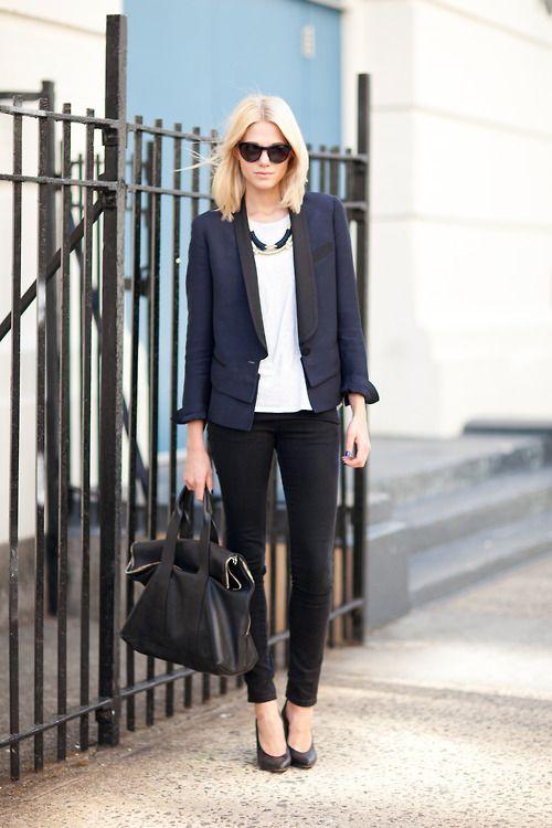 black blue navy street style preto marinho
