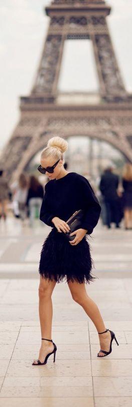 stret style fashion total black preto
