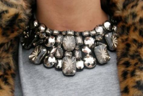 statement necklace colar xl street style
