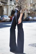 flare jeans calças boca de sino street style