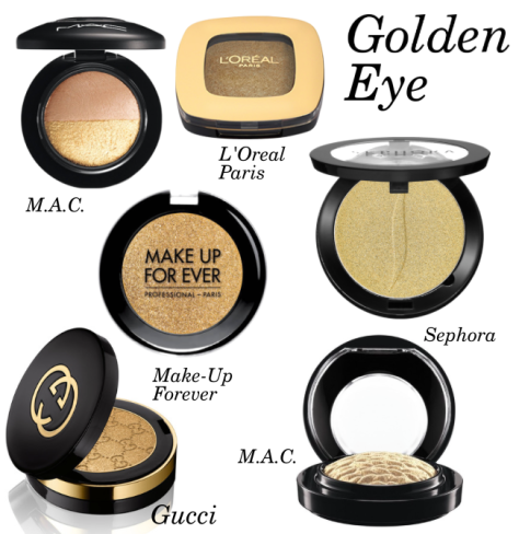 golden makeup eyeshadow
