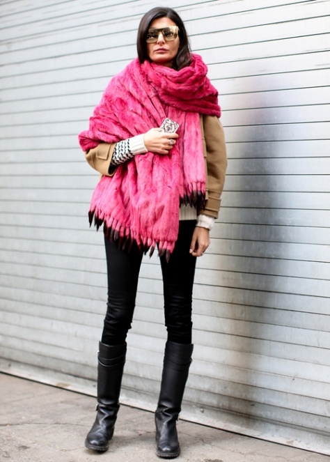street style winter colour coat