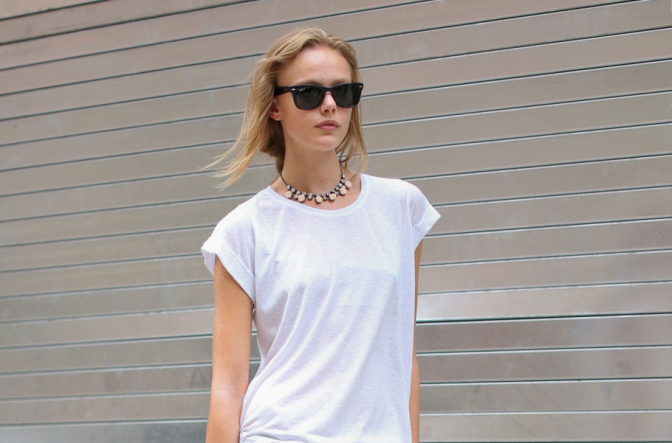 Back to Basics – Como vestir uma t-shirt branca?