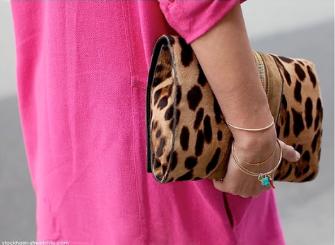 Lepard Clutch Stockhold Street Style