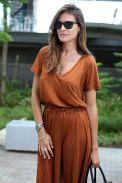 Street style terracotta, dress, outfit, looks, terracota, tijolo, castanho, laranja