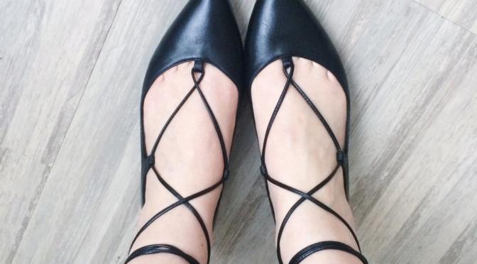 strapped up ballerinas, street style, trend alert