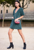 street style, trends, aw2015, fashion, tendências, outono, 2015, camurça, vestido