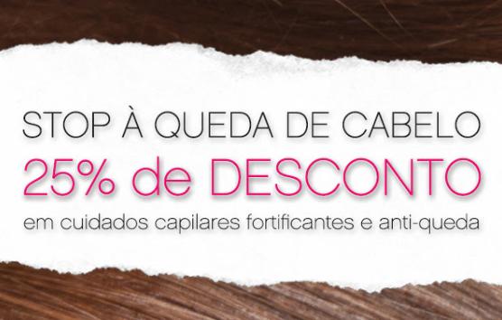 Produtos antiqueda com 25% de Desconto