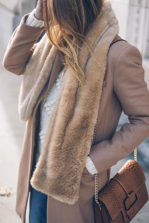 jess-ann-kirby-faux-fur-scarf-camel-coat-llbean-sweater